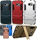 for samsung galaxy S6 case skin w/ stand light blue gold pink silver gray red //