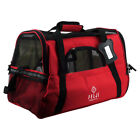 Pet Carrier Cat Dog Airline Approved Fleece Bag Large Blue Black Red