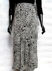 MONSOON IVORY & BLACK FIT AND FLARE MAXI SKIRT SIZE 8