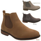 Mens Chelsea boots Faux Suede Casual Office Work Desert Shoes Size UK 7-11