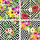 Floral & Stripes Oracal Printed Adhesive Outdoor Vinyl CHOOSE SIZE! Permanent