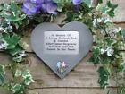 Personalised Wedding Rings Memorial Stone Heart / Grave Marker  Garden/Cemetery