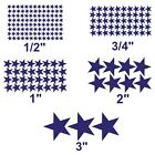 Star stickers! Pick your size and color! Permanent outdoor glossy vinyl decals.