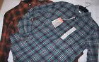 MENS ST.JOHNS BAY LONG SLEEVE CLASSIC FIT FLANNEL SHIRTS MULTIPLE COLORS NEW W T