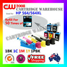 DIY Ink Refill 50 Times for HP 564/564XL cartridges or 5 x HP 564 ink