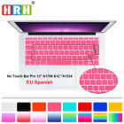 """UK Spanish Silicone Keyboard Cover Skin For New Mac Pro 13"""" A1708 and 12"""" A1534"""