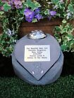 Personalised Patch Teddy Bear Memorial Stone Heart with Flowervase Holder Grave