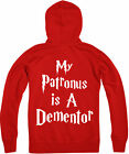 My Patronus Is A Dementor Zipped Hoodie, Harry Potter wizard, Gift Top