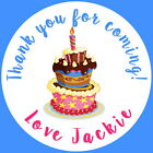 PERSONALISED GLOSS BIRTHDAY CAKE, THANK YOU PARTY BAG STICKERS ANY AGE