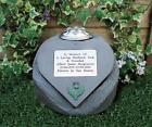 Personalised Thistle Memorial Stone Heart and Flowervase Holder for Grave