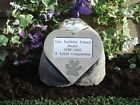 Personalised Dog Memorial Stone Heart with Large Pawprint and Flower Holder