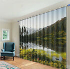 Spring Time Lake 3D Blockout Photo Mural Printing Curtains Draps Fabric Window