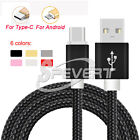 1/2/3M Duty Nylon Braided Fast Charging Micro USB Sync & Charge Cable Cord