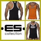 Addicted E.S - Men's Collection Logo Tank Top, slim fitted fitness sports