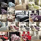 New Luxury Stripes Floral Reversible Duvet/ Quilt Cover Bedding Sets All Size