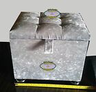 Ottoman Storage Box,Crushed Velvet,Diamante, Chrome Legs