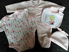 "New Baby Girls Pink 5 Piece Layette/Starter Clothes Gift Set.""Bunny and Bee"""