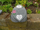 Personalised In Loving Memory Memorial Heart with Flowervase and Heart Plaque