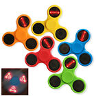 New LED Flashing Light Fidget Message Letter Word Hand Spinner Finger Stress Toy