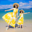 Fashion Matching Clothes Summer Beach Dresses for Mother and Daughter Long Dress