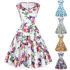Vintage Petticoat Swing 1950's Housewife Floral Cotton Pinup Victorian Tea Dress