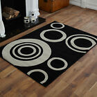 MEDIUM MODERN SMALL BLACK 60X120 cm RUGS HALO DESIGN BEST QUALITY AREA RUGS SALE