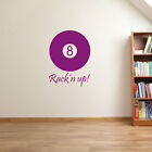 Poolball Pool Cue Table 9 Ball American Pocket Colourful Wall Stickers New A66 £13.99 GBP on eBay