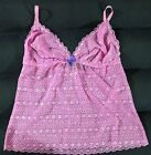 POUT BY VICTORIA SECTET LACY CAMI TOP IN SIZE L/G