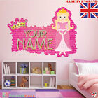 Princess 05 PERSONALISED NAME  Children Room Wall Sticker Decal Fabric  Vinyl UK