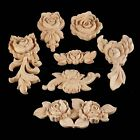 Wood Carved Corner Onlay Applique Cabinet Rose Home Decoration Multi Type 1/4pcs