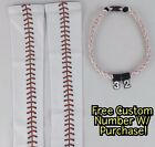 Sports Compression Arm Sleeves Baseball Stitches & Tornado Rope Necklace W/ #