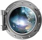 Port Scape Nebula & Stars Porthole 3D Space Window Wall Decal Removable Sticker