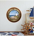 Lighthouse Decal Decor - Porthole Window Wall Decal - Lighthouse 2 PortScape