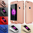 360 Case Cover for iPhone 7 7 Plus 6 6s 5 5s SE Front and Back + Tempered Glass