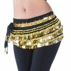 Belly Dance Belt Dancing Golden Coins Hip Scarf Costumes Velvet Wrap Skirt