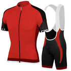 Men Team Breathable Cycling Jersey Short Sleeve Sets Bicycle Clothing Quick Dry