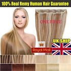 80g+ One Piece Clip In 3/4Full Head 100% Real Remy Human Hair Extensions UK H030