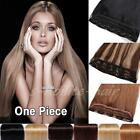 Deluxe Clip In One Piece Real Remy Human Hair Extensions 3/4 Full Head UK Y700