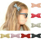 3 inch Baby Newborn Girls Alligator Clips Cute Hair Bows synthesis Leather