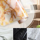 Marble Contact Paper Self Adhesive Glossy Worktop Peel Stick Wallpaper Roll HF