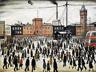 going to work LS Lowry - cross stitch chart also available as A4 glossy print