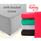 100% Brushed Cotton NEW Flannelette SALE Fitted Ft Bed Sheet Single Double King