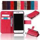 Fashion Credit Card Wallet Leather Hybrid Case Cover For Apple iPhone 5 5s SE