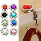 Portable Foldable Folding Crystal Alloy Purse Handbag Hook Hanger Bag Holder S