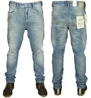 BNWT MENS JEANS JACK & JONES DESIGNER LUKE ANTI FIT JEANS IN LIGHT BLUE DENIM