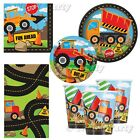 Construction JCB Digger Birthday Girls Boys Party Supplies Tableware
