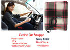 Electric Heated Car Snuggle Blanket -Soft Polar Fleece 110x150cm 1 year warranty