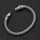 Crow Viking Bracelet Men Jewelry Gift Norse Gothic Style Hand Crafted Bangle photo