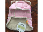 DOG COAT PINK high quality WARM FLEECE LINED for SMALL & MED DOGS to 44cm CHEST
