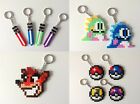 SALE:Hama Bead Keyrings:Over 60 Choices- Gaming,Movies, TV,Nerdy, Retro and Misc